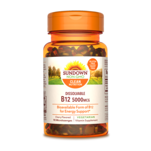 Sundown, Natural center, b12 5000 mcg, sublingual, vegetariano, cereza